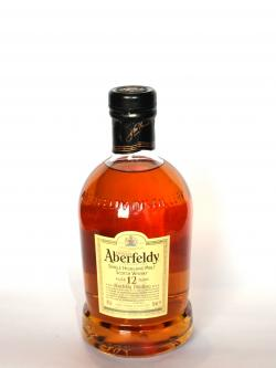 A photo of the frontal side of a bottle of Aberfeldy 12 year