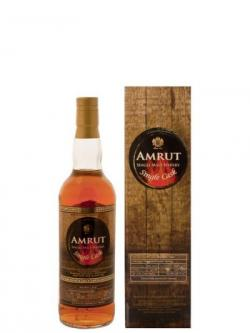A bottle of Amrut Single Cask Bourbon #3439