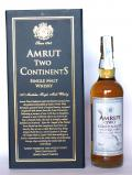 A bottle of Amrut Two Continents