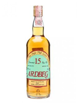 A bottle of Ardbeg 1973 / 15 Year Old / Clear Glass / Screwcap Islay Whi