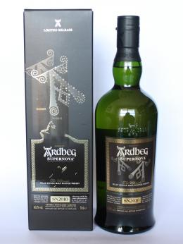 a bottle of Ardbeg Supernova sn2010