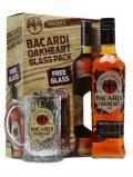 A bottle of Bacardi Oakheart Spiced Rum / Glass Pack
