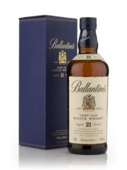 A bottle of Ballantines 21 Year Old