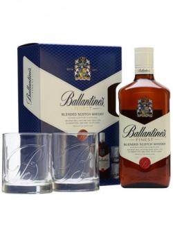 Ballantine's Finest + 2 Tumblers / Gift Pack Blended Scotch Whisky