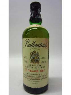 Ballantines Very Old Scotch 17 Year Old