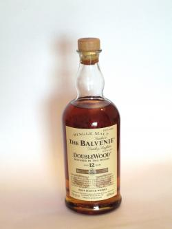 A photo of the frontal side of a bottle of Balvenie 12 year Doublewood