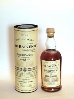 A bottle of Balvenie 12 year Doublewood