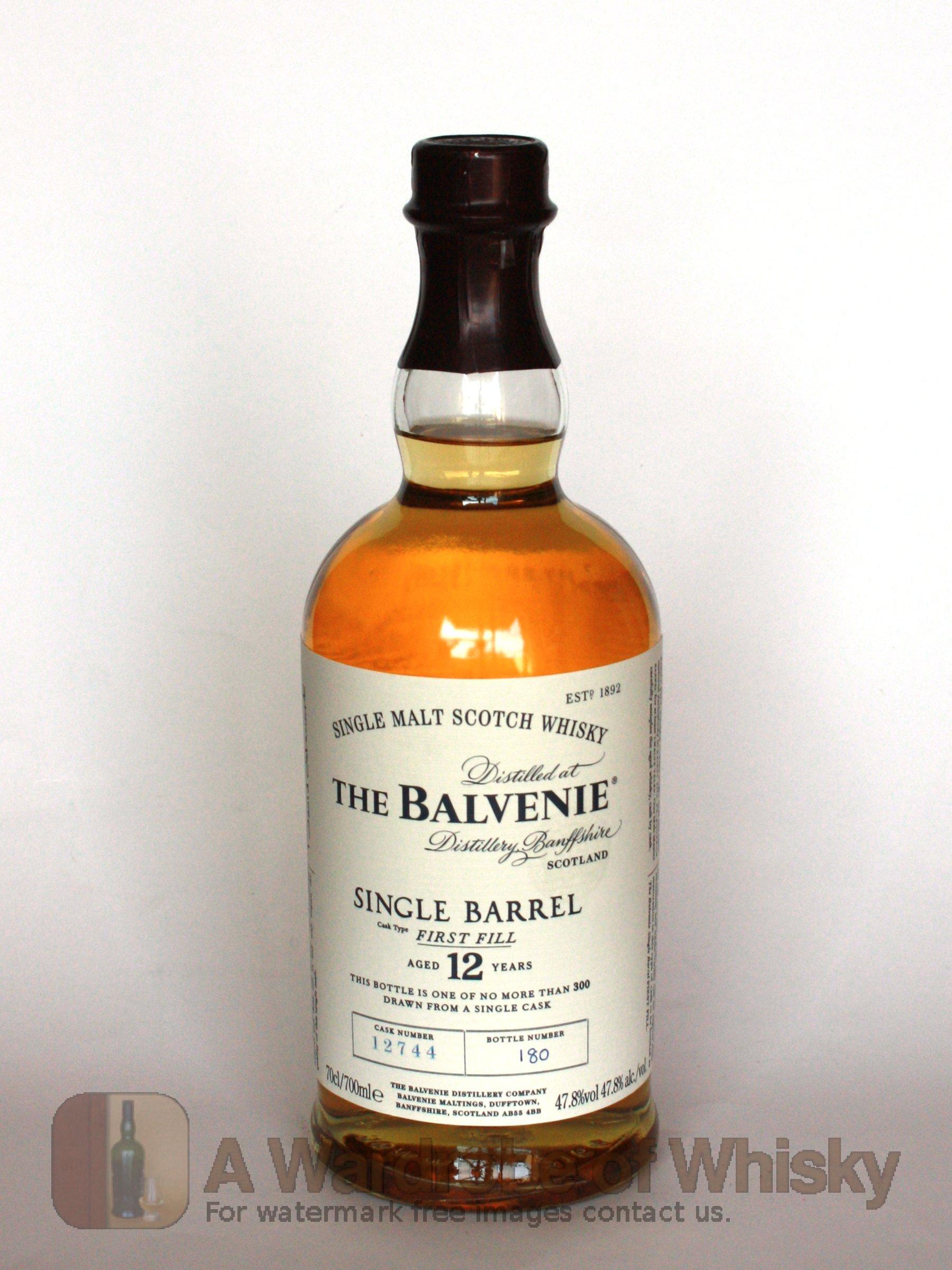 Balvenie 12 yo Single Barrel (47,8%, OB 2013, first fill bourbon ...