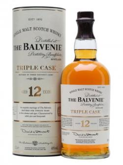 A bottle of Balvenie 12 Year Old / Triple Cask / Litre Speyside Whisky