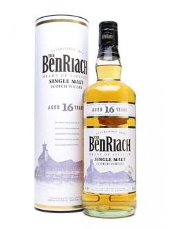 A bottle of Benriach 16 Year Old Speyside Single Malt Scotch Whisky