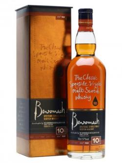 A bottle of Benromach 10 Year Old / 100 Proof Speyside Single Malt Scotch Whisky
