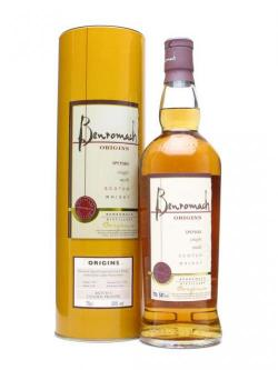 A bottle of Benromach 1999 / Origins Batch 1 / Golden Promise Barley Speyside Whisky