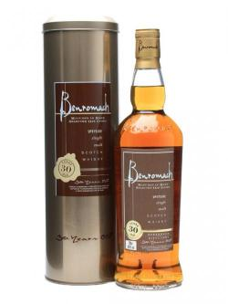 A bottle of Benromach 30 Year Old Speyside Single Malt Scotch Whisky