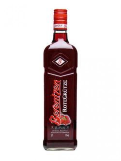 A bottle of Berentzen Rote Grütze (Red Fruits) Liqueur