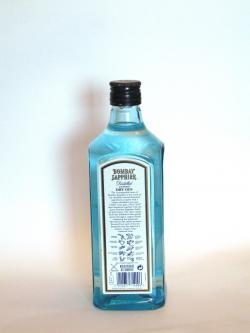 Bombay Sapphire Gin Back side