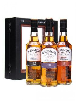 Bowmore Gift Pack / 12 Year Old+15 Year Old+18 Year Old Islay Whisky