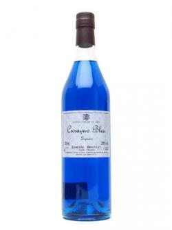 A bottle of Briottet Blue Curacao Liqueur