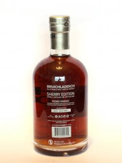 Bruichladdich 17 Year Old Pedro Ximenez Sherry Back side