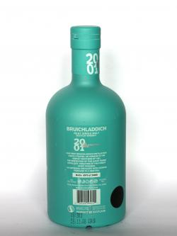 A photo of the back side of a bottle of Bruichladdich 2001 Resurrection
