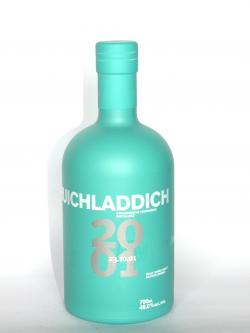 A photo of the frontal side of a bottle of Bruichladdich 2001 Resurrection