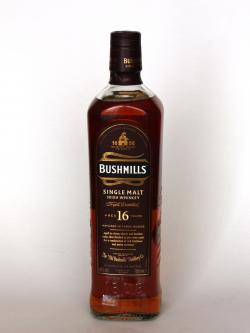 Bushmills 16 Year Old / 3 Wood Irish Single Malt Whiskey Front side