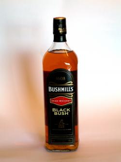 A photo of the frontal side of a bottle of Bushmills Black Bush