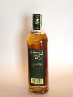 Bushmills Malt 10 year Back side