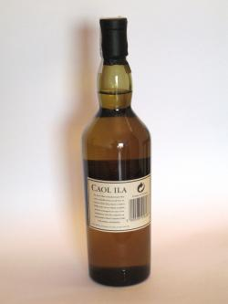 Caol Ila 12 year Back side