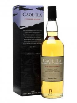 A bottle of Caol Ila Unpeated / Stitchell Reserve / Bot.2013 Islay Whisky