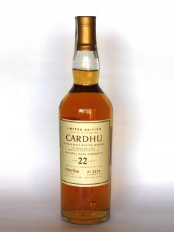 Cardhu 22 year Front side