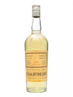 A bottle of Chartreuse Yellow Liqueur / Bot.1960s