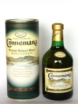 a bottle of Connemara Peated Irish Single Malt Whisky