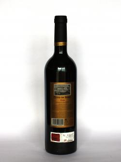 A photo of the back side of a bottle of Coto de Imaz Reserva 1998