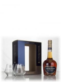 Courvoisier VSOP Fine Cognac Gift Pack with 2x Glasses