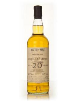 A bottle of Cragganmore 20 Year Old 1991 Cask 1146 - Single Cask (Master of Malt)