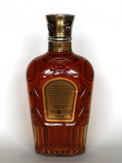 A photo of the back side of a bottle of Crown Royal Special Reserve