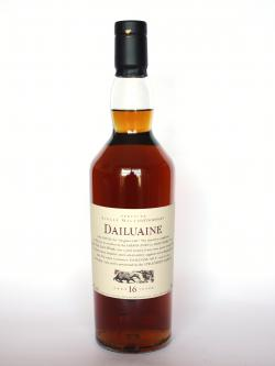 A photo of the frontal side of a bottle of Dailuaine 16 year
