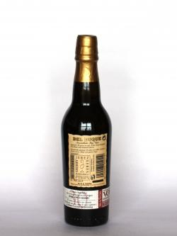 Del Duque Amontillado 30 year Back side