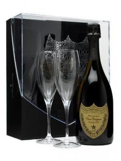 Dom Perignon 2002 Gift Pack with 2 Glasses