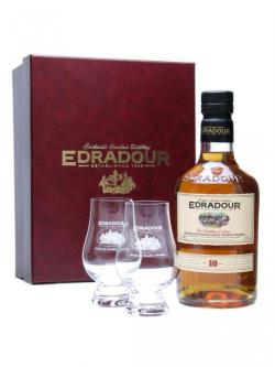 Edradour 10 Year Old Glass Pack Highland Single Malt Whisky