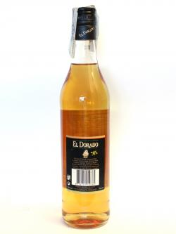 El Dorado Overproof Rum Back side