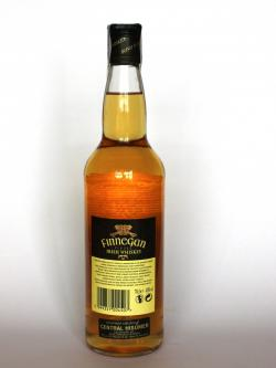 Finnegan Finest Irish Whiskey Back side