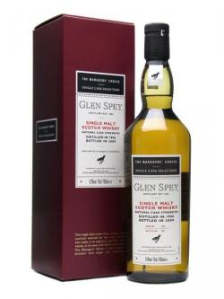A bottle of Glen Spey 1996 / Managers' Choice Speyside Single Malt Scotch Whisky
