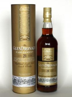 A bottle of Glendronach 21 year Parliament