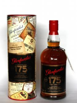 A bottle of Glenfarclas 175th Anniversary