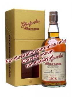 A bottle of Glenfarclas 1987 / Sherry Cask / The Family Casks Speyside Whisky