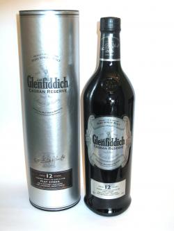 A bottle of Glenfiddich 12 year Caoran Reserve