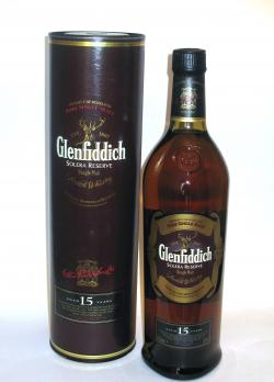 A bottle of Glenfiddich 15 year