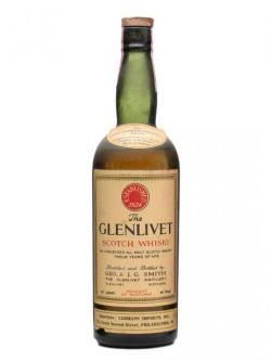 A bottle of Glenlivet 12 Year Old / Bot. 1930s Speyside Single Malt Scotch Whisky