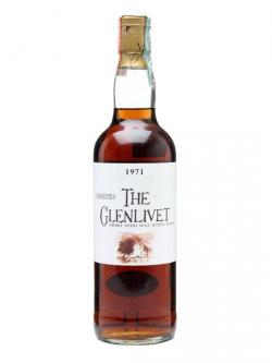 A bottle of Glenlivet 1971 / Samaroli / Sherry Wood #10214 Speyside Whisky
